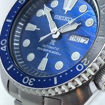 Seiko Stal 45mm Niebieski Bez cyfr