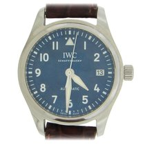 IWC Pilot's Watch Automatic 36 pre-owned 36mm Blue Date Fold clasp