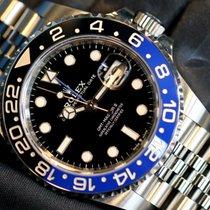 Rolex GMT-Master II Stahl 40mm Schwarz Keine Ziffern Schweiz, Geneve