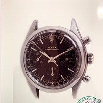 Rolex Chronograph Steel 36mm Black No numerals