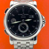 Ulysse Nardin Dual Time gebraucht 42mm Silber Datum GMT/Zweite Zeitzone Stahl