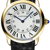 Cartier Yellow gold Quartz Silver 36mm new Ronde Solo de Cartier