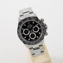 Rolex Daytona Stahl LC 100 new model black dial unworn box papers