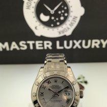 Rolex 80319 Pearlmaster Rhodium Roman Dial Diam Bezel White Gold