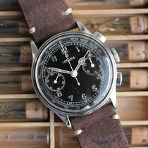 Lemania Chronograph Manual winding 1950 pre-owned Black