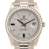 勞力士 (Rolex) Day-date 18k White Gold With Diamond Silver...