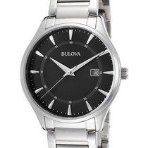 Bulova Men's 96B184 Bracelet Black Dial Stainless Steel Watch