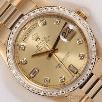 Rolex Day-Date President 18k Gold 18038-Champagne Diamond...