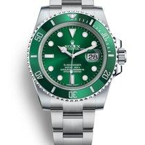 Rolex Submariner Date Ocel 40mm Zelená Bez čísel