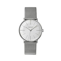 Junghans Steel 34mm Manual winding 027/3004.44 JUNGHANS MAX BILL HANDAUFZUG acciaio new