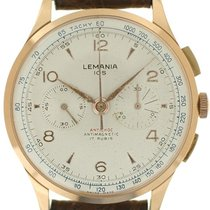 Lemania Rose gold 37mm Manual winding pre-owned