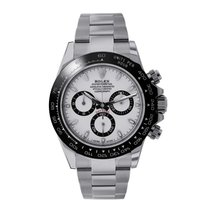 Rolex Daytona 40mm White Ceramic Stainless Steel Watch 116500LN