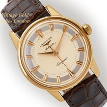 Longines Yellow gold Automatic Champagne 35mm pre-owned Conquest