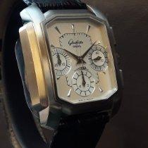 Glashütte Original Senator Karrée new 2000 Automatic Chronograph Watch with original box and original papers W 13-93-10-60-40-4