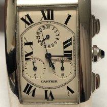Cartier Tank Américaine Ouro branco 26mm Branco Romanos