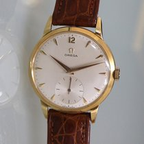 Omega Yellow gold Manual winding Champagne 35,5mm pre-owned