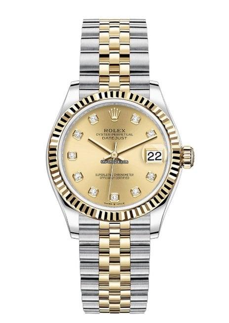 Rolex Datejust 31 Rolex 278273 Datejust 31mm  Champagne Diamond dial 2021 new