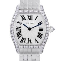 Cartier Tortue Or blanc 30mm Argent Romains