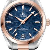 Omega Seamaster Aqua Terra Goud/Staal 34mm Blauw