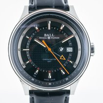 Ball for BMW, Mens, GMT, Stainless Steel, Leather Band,...