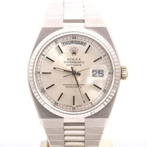 Rolex Mens 18K White Gold OysterQuartz President - Silver Dial...