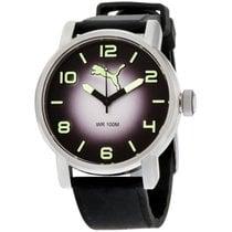 Puma Alternative Round Black Dial Silicone Strap Men's Watch...