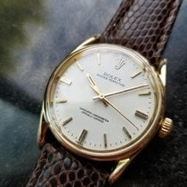 Rolex Men's Oyster Perpetual 1011 Bombay 14K Gold Automatic...