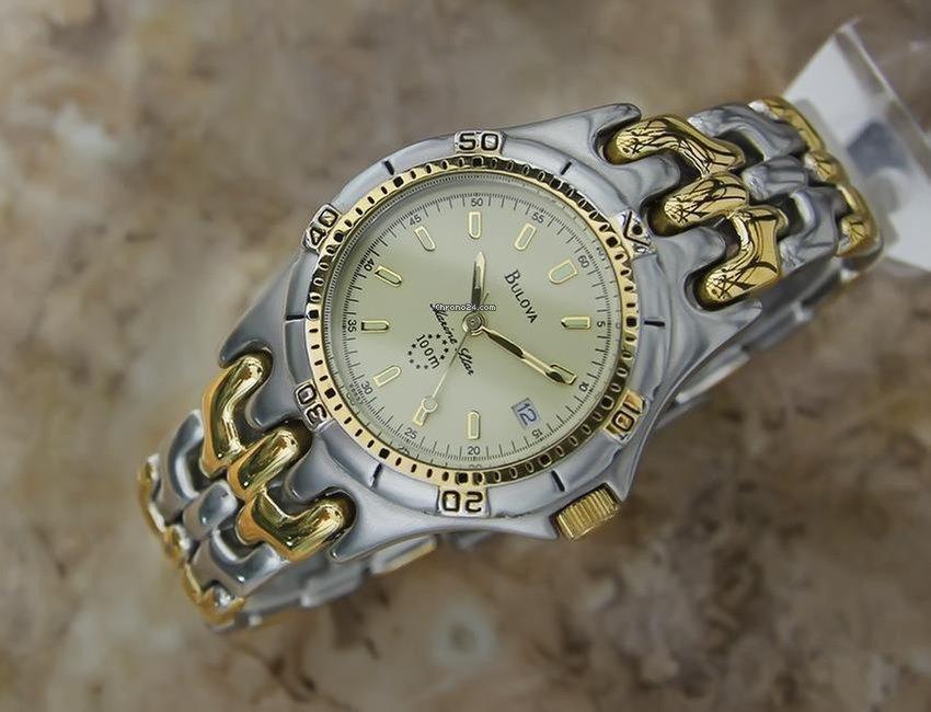 Bulova Marine Star 100m Swiss Made 36MM Mens Gold Plated... eladó 255 126  Ft Trusted Seller státuszú eladótól a Chrono24-en 6ac3476521