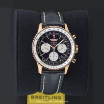 Breitling Navitimer 01 pre-owned 43mm Black Chronograph Date Year Crocodile skin
