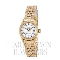 Rolex Oyster Perpetual Lady Date Yellow gold 25mm White Roman numerals