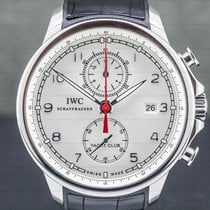 IWC Portuguese Yacht Club Chronograph pre-owned 45mm Silver Chronograph Flyback Date Rubber