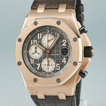 오드마피게 핑크골드 자동 회색 42mm 중고시계 로열오크 오프쇼어 크로노그래프