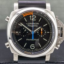 Panerai Luminor 1950 Regatta 3 Days Chrono Flyback pre-owned 47mm Black Chronograph Flyback Tachymeter Rubber