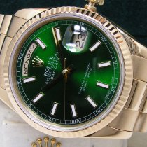 Rolex Day-Date 36 Yellow gold 36mm Green United States of America, Pennsylvania, HARRISBURG