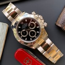 Rolex Daytona Steel 40mm Black No numerals
