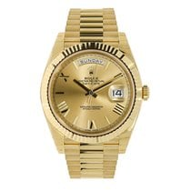 Rolex Day-Date 40 Yellow gold 40mm Gold Roman numerals