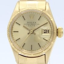 Rolex Oyster Perpetual Lady Date usados 24mm Oro amarillo