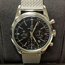 Breitling Transocean Chronograph Steel 43mm Black No numerals United Kingdom, Wilmslow
