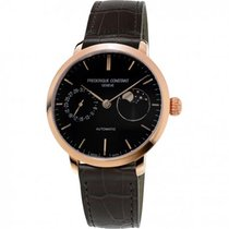 Frederique Constant Manufacture Slimline Moonphase neu 38,8mm Gold/Stahl
