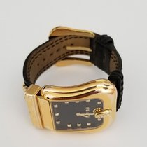 Fendi Orologi Gold Plated Diamond Markers Belt Design Watch