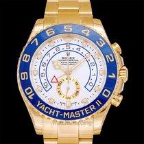 Rolex Yacht-Master II White 18k Yellow Gold 2017 44mm - 116688