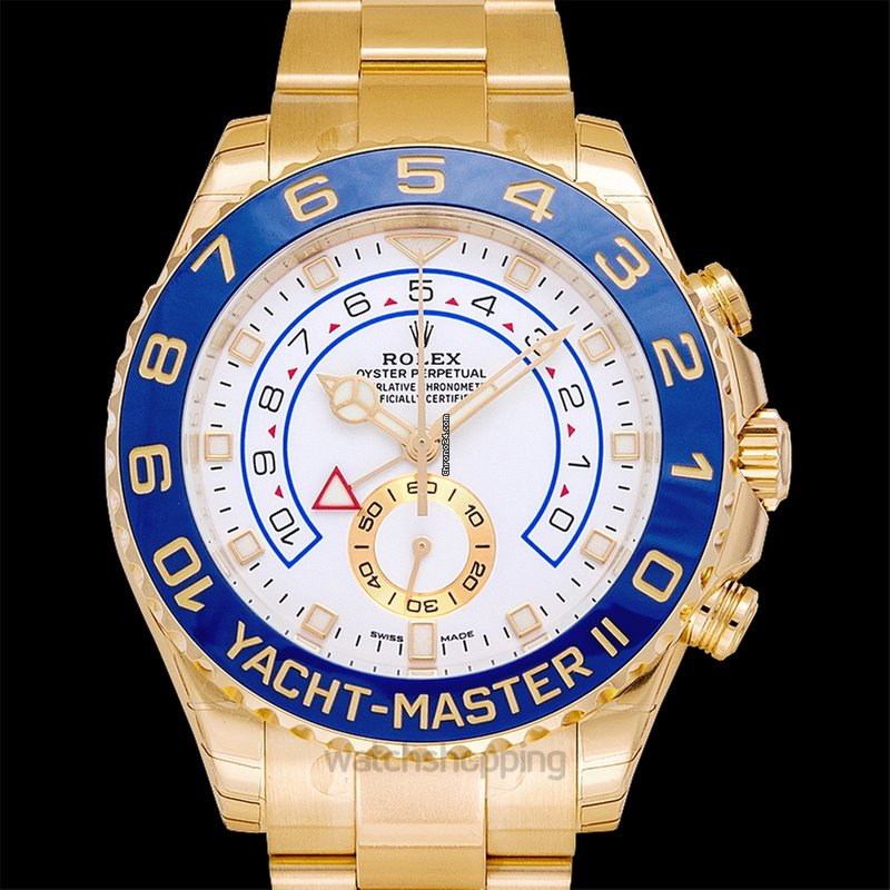 Rolex Yacht,Master II Automatic White Dial Men\u0027s 18kt Yellow