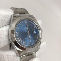 Rolex Datejust II Azzurro Blue Roman Dial 116300