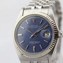 Rolex Datejust rare blue dial whitegold bezel