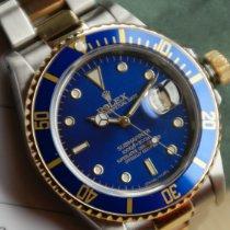 Rolex Submariner Date Gold/Stahl 40mm Blau Keine Ziffern Schweiz, Varen