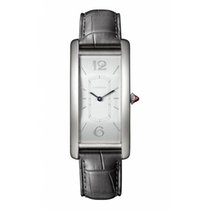 Cartier Platinum Manual winding Silver Arabic numerals 46.3mm new Tank (submodel)
