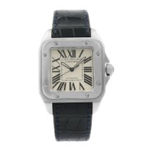 Cartier Santos 100 Steel 41mm Silver Roman numerals United States of America, New York, NYC