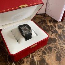 Cartier Carbon Automatic Black Roman numerals 38mm new Santos 100