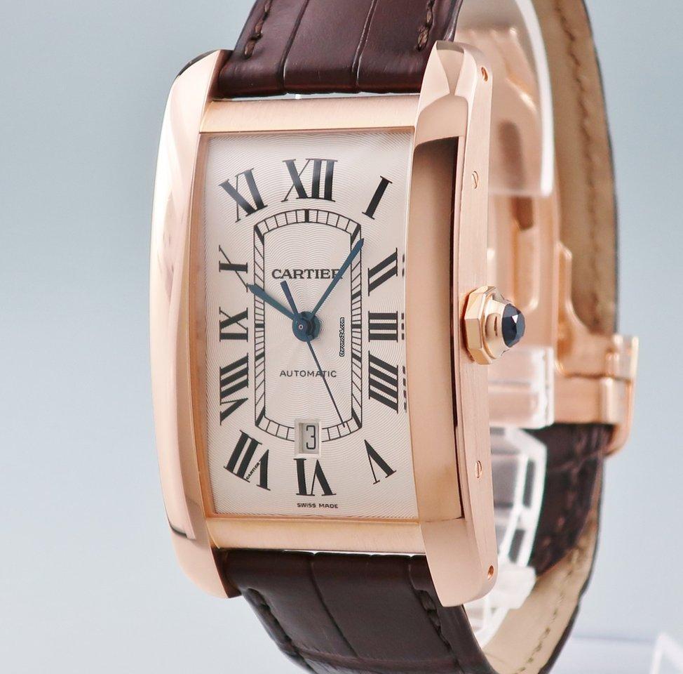 timeless design 298c7 56504 Cartier カルティエ Cartier/タンクアメリカンXL W2609856 自動巻 OH済 K18PG無垢 メンズ 腕時計 ウォッチ  ピンクゴールド
