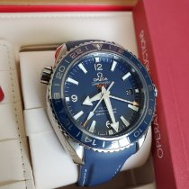Omega Seamaster Planet Ocean pre-owned 43.5mm Blue Date GMT Rubber
